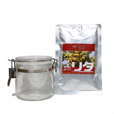 【お買い得】天然の洗い粉リタ100g×2 とガラス密封保存容器のセット