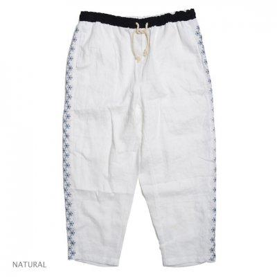 GO HEMP|YURURI PANTS / 麻柄刺繍|NATURAL