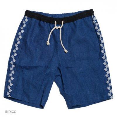 GO HEMP|YURURI SHORTS / 麻柄刺繍|2Colors