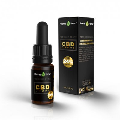 Pharmahemp|24% プレミアムブラックオイルドロップ|Premium Black Oil Drop 2400mgCBD / 10ml