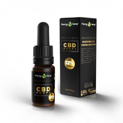 Pharmahemp|12% プレミアムブラックオイルドロップ|Premium Black Oil Drop 1200mgCBD / 10ml