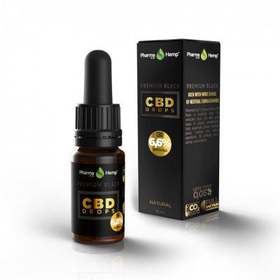 Pharmahemp|6.6% プレミアムブラックオイルドロップ|Premium Black Oil Drop 660mgCBD / 10ml