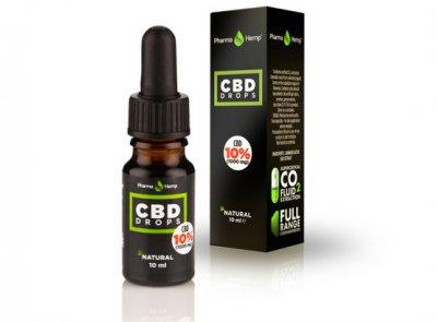 Pharmahemp|10% CBDオイルドロップ|CBD1000mg / 10ml|フルヘンプスペクトロム使用