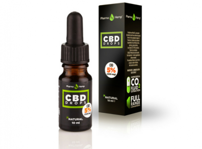 Pharmahemp|5% CBDオイルドロップ|CBD500mg / 10ml|フルヘンプスペクトロム使用