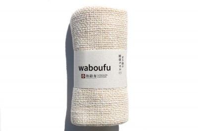 和紡オーガニックコットン|ガラ紡の健康タオル mini|85×23cm