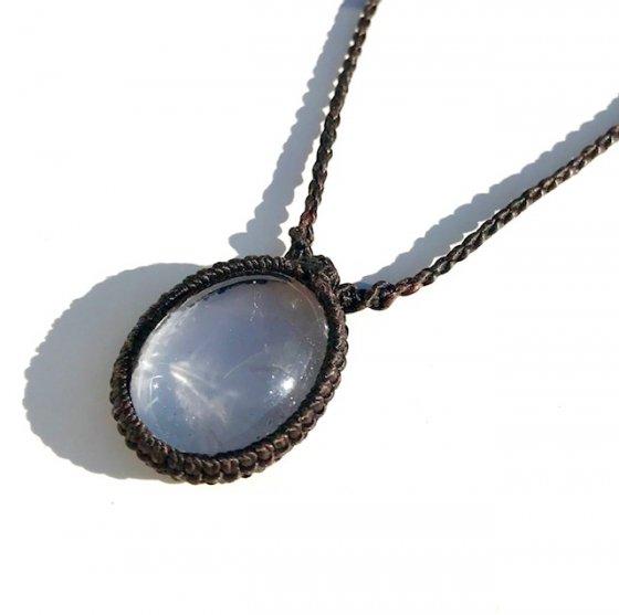 ガネッシュヒマール産 ヒマラヤ水晶ペンダント|クリアクォーツ [細ひも]|W-2|SHAKTI STONE