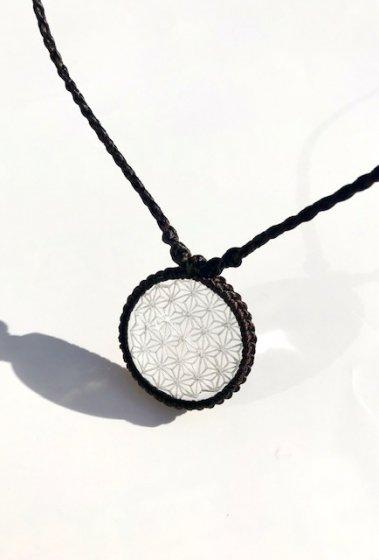 ガネッシュヒマール産 ヒマラヤ水晶ペンダント 『ヘンプオブライフ』クリアクォーツ [細ひも] W-3 SHAKTI STONE