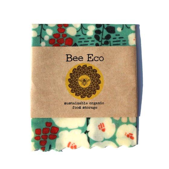 Bee Eco Wrap|天然素材のラップ|Sサイズ [約18×18cm]|ミツロウ×オーガニックコットン|繰返し使用可|C