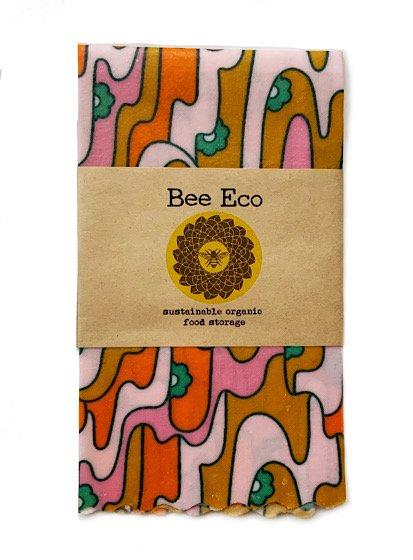 Bee Eco Wrap|天然素材のラップ|Mサイズ [約27×27cm]|ミツロウ×オーガニックコットン|繰返し使用可|C
