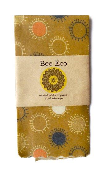 Bee Eco Wrap|天然素材のラップ|Lサイズ [約33×33cm]|ミツロウ×オーガニックコットン|繰返し使用可|D