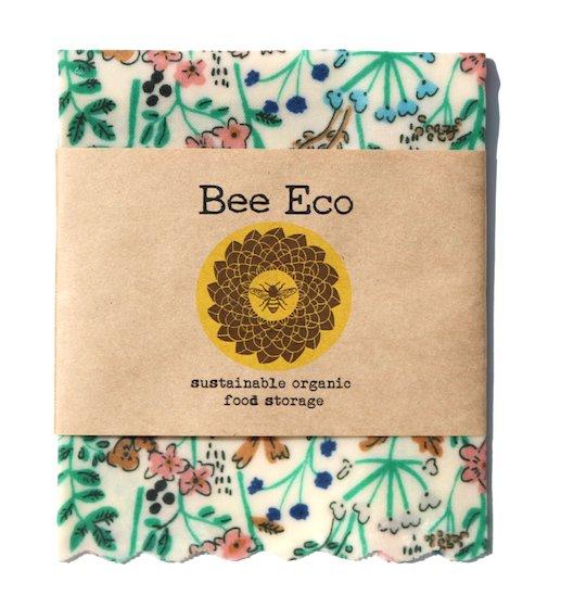 Bee Eco Wrap|天然素材のラップ|Sサイズ [約18×18cm]|ミツロウ×オーガニックコットン|繰返し使用可|B