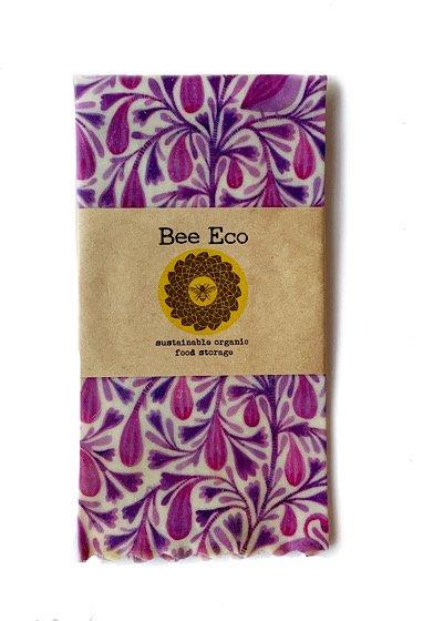 Bee Eco Wrap|天然素材のラップ|Lサイズ [約33×33cm]|ミツロウ×オーガニックコットン|繰返し使用可|B