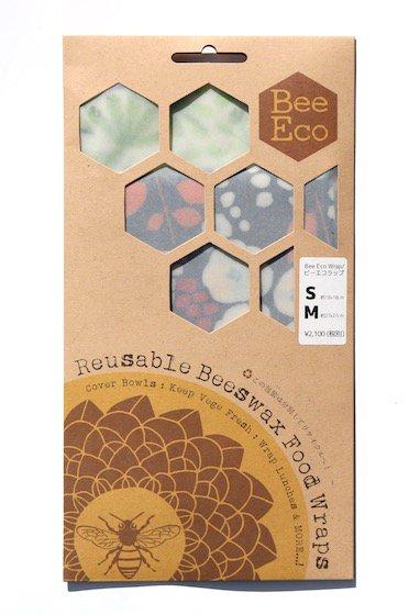 Bee Eco Wrap|天然素材のラップ|S/Mセット|ミツロウ×オーガニックコットン|繰返し使用可|