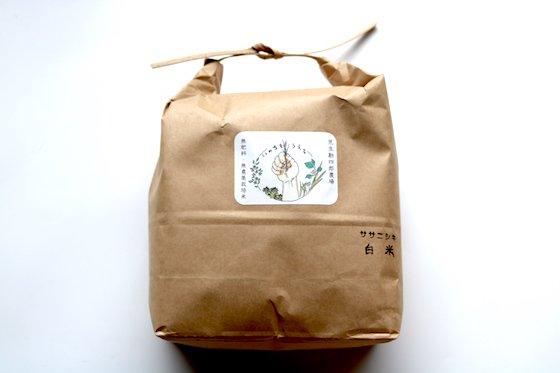 ササニシキ【山形産】|白米|2kg|無肥料・無農薬栽培米