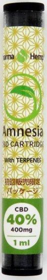 40% CBDナチュラルカートリッジ Amnesia CBD400mg/1ml