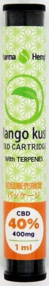 40% CBDナチュラルカートリッジ Mango Kush CBD400mg/1ml