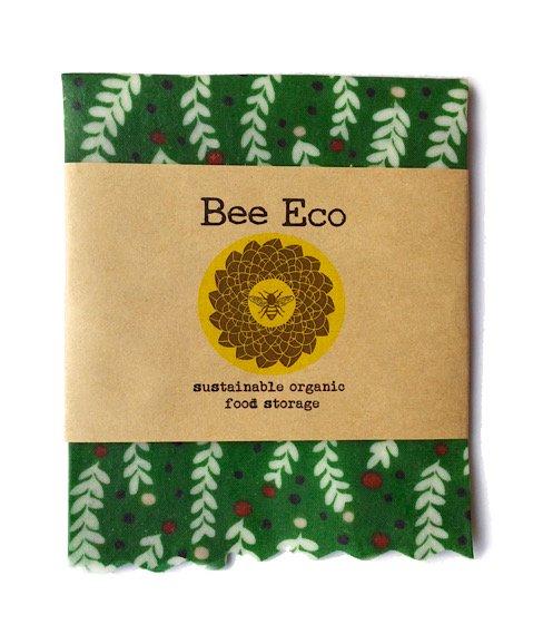 Bee Eco Wrap|天然素材のラップ|Sサイズ [約18×18cm]|ミツロウ×オーガニックコットン|繰返し使用可|A