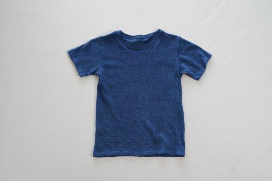 enishii|KIDS Tee| ヘンプコットン|本藍染め|無地|中色|サイズM