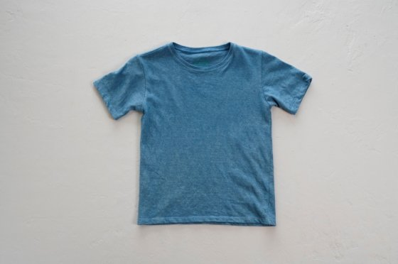 enishii KIDS Tee  ヘンプコットン 本藍染め 無地 淡色 サイズL