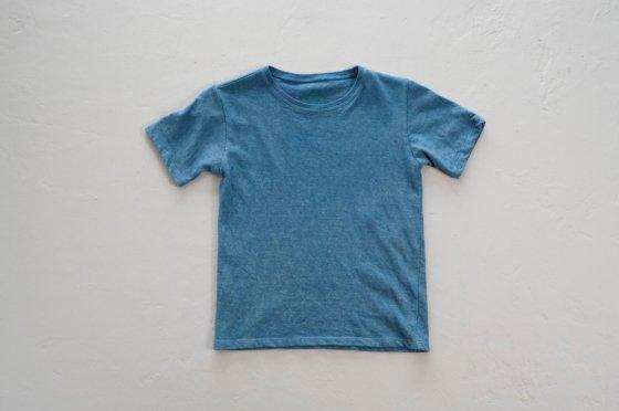 enishii|KIDS Tee| ヘンプコットン|本藍染め|無地|淡色|サイズM