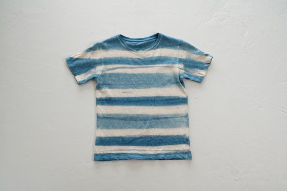 enishii|KIDS Tee| ヘンプコットン|本藍染め|板締め=|サイズM