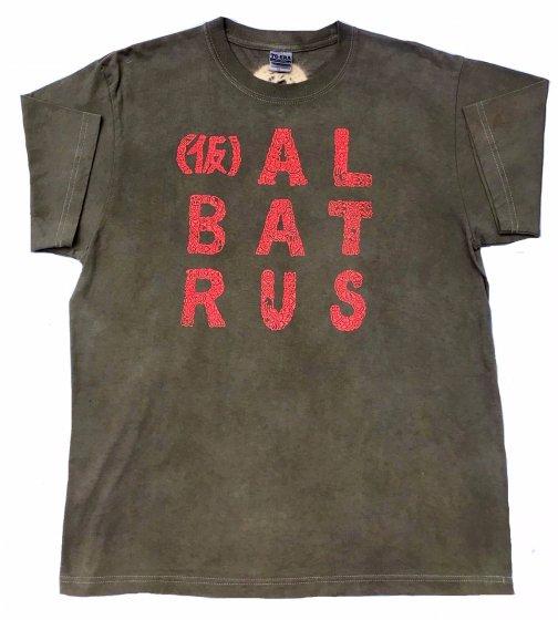 [一点もの]三宅商店オリジナル染め|(仮)ALBATRAS 立体ラバーインクロゴTシャツ|L