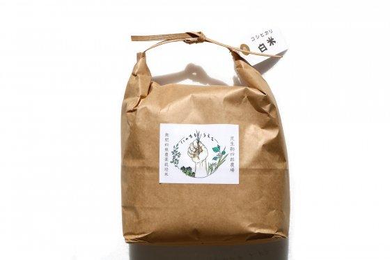 コシヒカリ【山形産】|白米|2kg|無肥料・無農薬栽培米|荒生勘四郎農場
