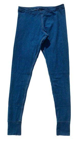 enishii|レギンス| ヘンプコットン|本藍染め|無地|濃色|縫い糸(青)|サイズXS