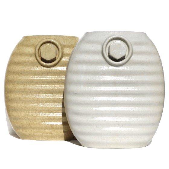 弥満丈製陶|陶器の湯たんぽ|高田焼|オーガニックホワイト