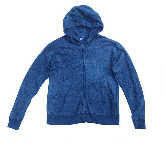 enishii|パーカー| ヘンプコットン|本藍染め|絞り○|サイズXS