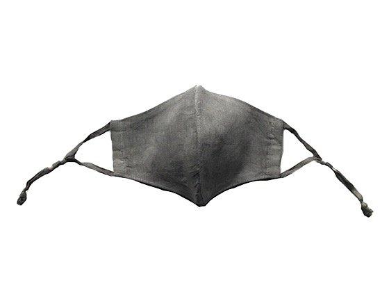 冨貴工房×ビバーク | 麻マスク | 麻炭染め|ヘンプシルク| おもて面ヘンプ