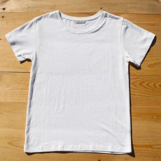 三宅商店オリジナル|ベーシックTシャツ(薄手)|ヘンプコットン|生成り|サイズM