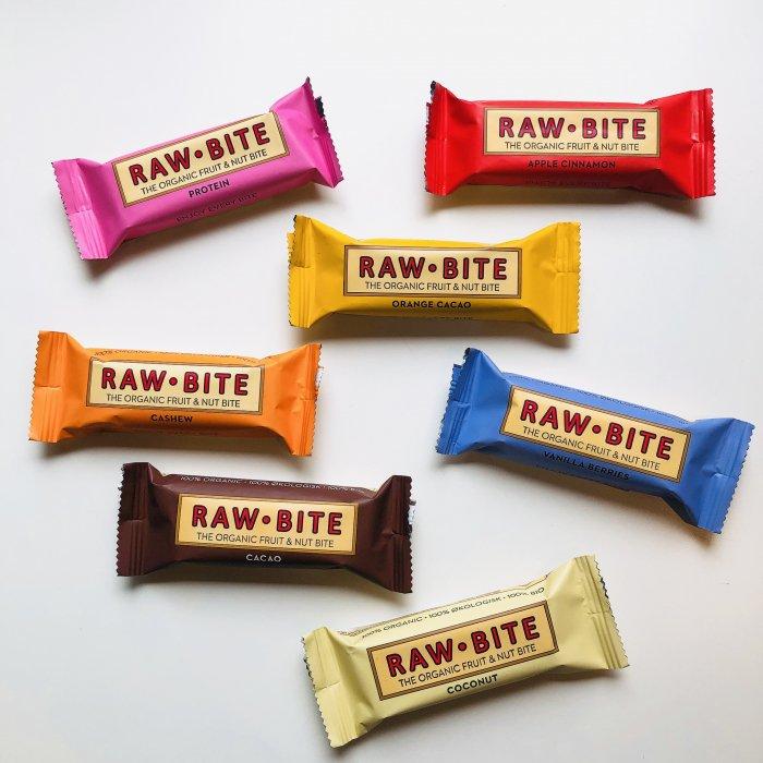 デンマーク産オーガニックバー6種|RAW-BITE|非加熱|砂糖不使用|50g