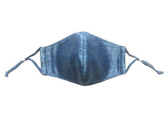 三宅商店×ビバーク|麻マスク|ヘンプシルク|おもて面シルク|本藍染め|無地|淡色
