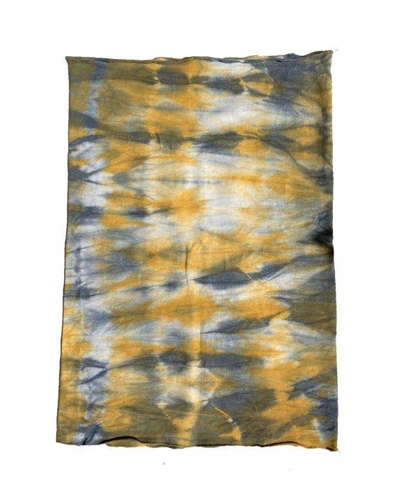 冨貴工房×ビバーク|染めボディロール|ベンガラ(鬱金)+藍錠+煤染め|ヘンプコットン|『ほ』