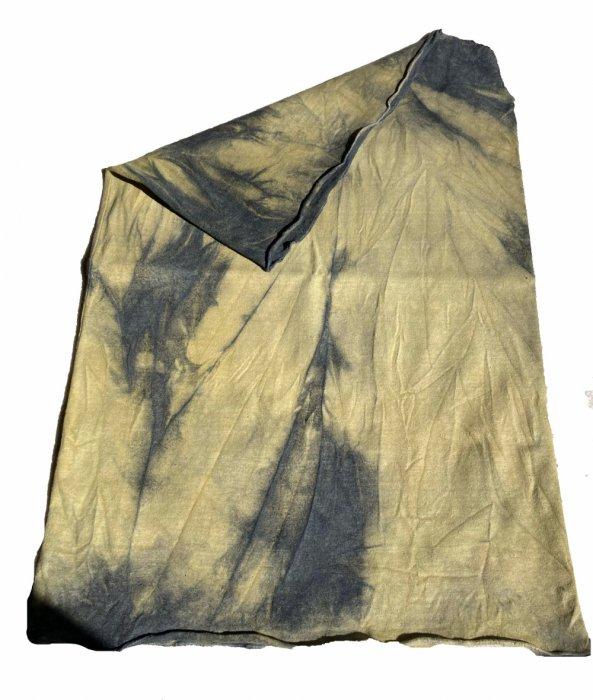 冨貴工房×ビバーク|染めボディロール|ベンガラ(鬱金)+藍錠+煤染め|ヘンプコットン|『う』