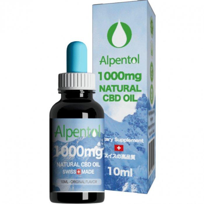 Alpentol|CBDオイル10%|1000mg・10ml[高品質スイス産ヘンプ使用]