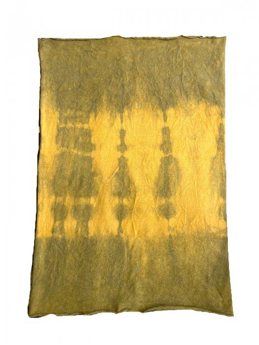 冨貴工房×ビバーク|染めボディロール|サイズ34|ベンガラ(鬱金+古色)+藍錠染め|ヘンプコットン|『き』