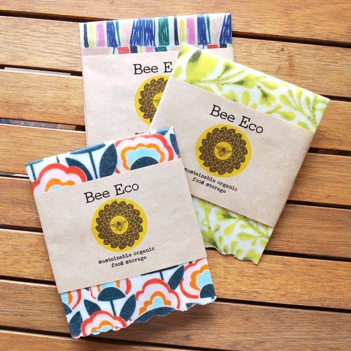 Bee Eco Wrap|天然素材のラップ|Sサイズ [約18×18cm]|ミツロウ×オーガニックコットン|繰返し使用可
