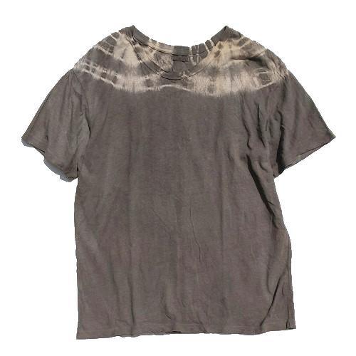 三宅商店オリジナル|Tシャツ|XLサイズ|ヘンプコットン|フクギ染め|「た」