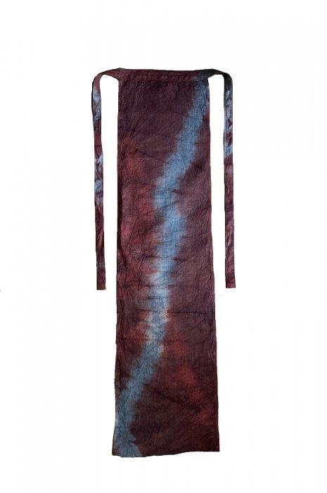 冨貴工房×ビバーク|オリジナル褌 |茜+藍錠+麻炭染め|『ふ』|ヘンプ100%