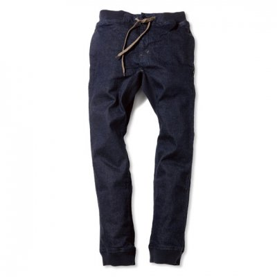 GO HEMP|SLIM RIB PANTS|ストレッチデニム|ONE WASH
