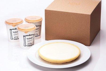 チーズケーキ 日瑠華(ニルバーナ)(大)+ヨーグルト(3個セット)/化粧箱入