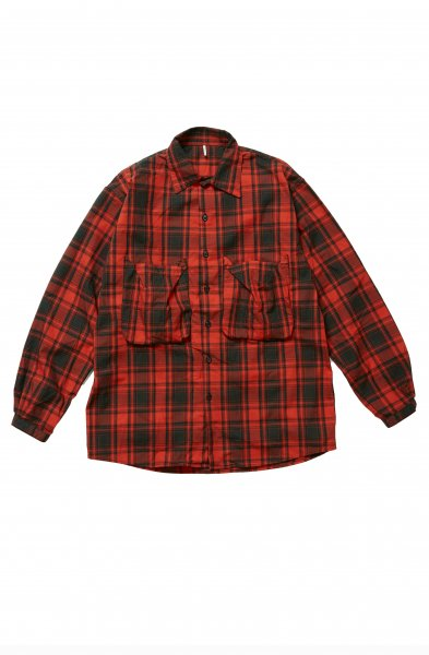 <img class='new_mark_img1' src='//img.shop-pro.jp/img/new/icons2.gif' style='border:none;display:inline;margin:0px;padding:0px;width:auto;' />NEL POCKET SHIRTS(RED)