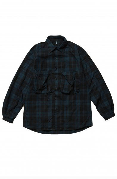 <img class='new_mark_img1' src='//img.shop-pro.jp/img/new/icons2.gif' style='border:none;display:inline;margin:0px;padding:0px;width:auto;' />NEL POCKET SHIRTS(BLACK)