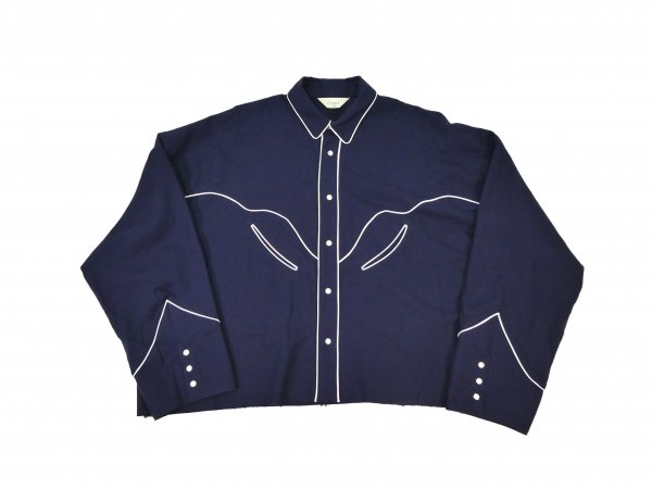 <img class='new_mark_img1' src='//img.shop-pro.jp/img/new/icons2.gif' style='border:none;display:inline;margin:0px;padding:0px;width:auto;' />C/W WESTERN SHIRT (NAVY)
