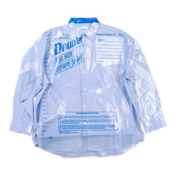 <img class='new_mark_img1' src='//img.shop-pro.jp/img/new/icons2.gif' style='border:none;display:inline;margin:0px;padding:0px;width:auto;' />OVER SIZED FREEZER-BAG PACKAGE SHIRT(L.BLUE)