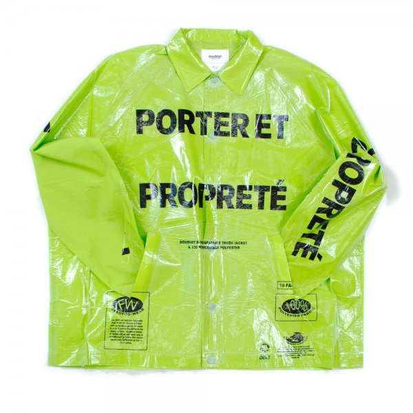 <img class='new_mark_img1' src='//img.shop-pro.jp/img/new/icons2.gif' style='border:none;display:inline;margin:0px;padding:0px;width:auto;' />GARBAGE-BAG PACKAGE COACHES JACKET(L.GREEN)