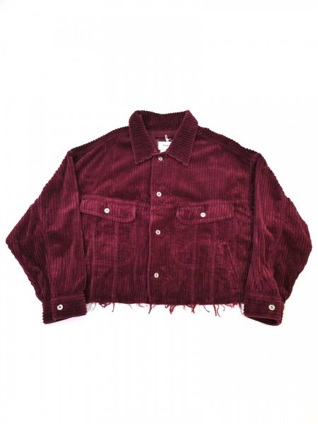 <img class='new_mark_img1' src='//img.shop-pro.jp/img/new/icons2.gif' style='border:none;display:inline;margin:0px;padding:0px;width:auto;' />CUT OFF OVERSIZED CORDUROY JACKET(WINE)