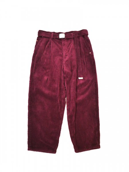 <img class='new_mark_img1' src='//img.shop-pro.jp/img/new/icons2.gif' style='border:none;display:inline;margin:0px;padding:0px;width:auto;' />CORDUROY OVERSIZED TROUSER(WINE)